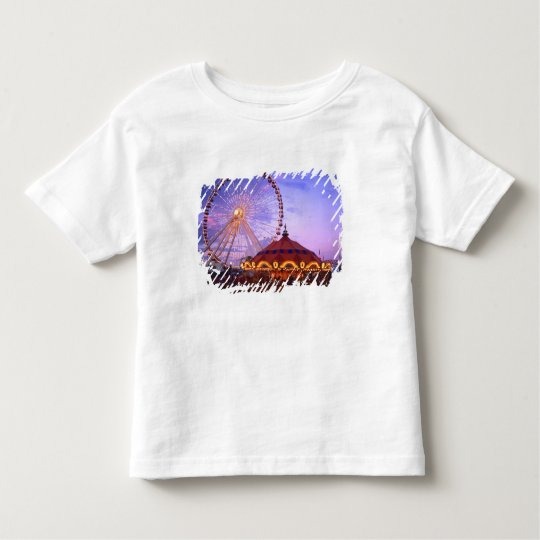 A ferris wheel and carousel at the Navy Pier in Toddler T-shirt