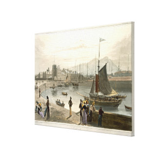 A ferry arriving at Leith, from 'A Voyage Around G Canvas Print