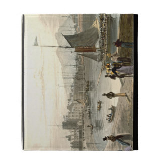 A ferry arriving at Leith, from 'A Voyage Around G iPad Folio Cover