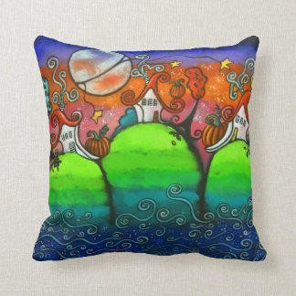 A Festive Fall Original Art Pillow