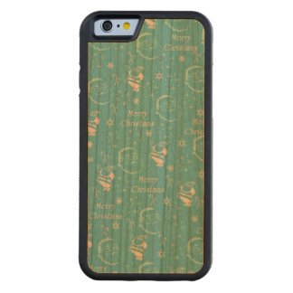 A Festive Jolly Father Christmas Carved Cherry iPhone 6 Bumper Case