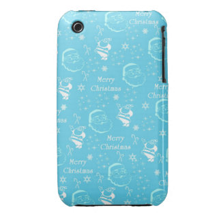 A Festive Jolly Father Christmas iPhone 3 Case-Mate Cases