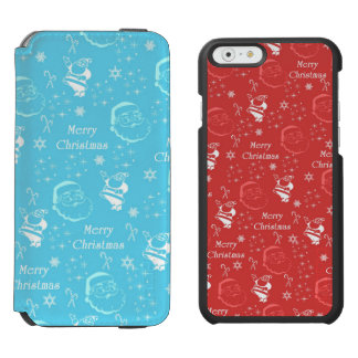 A Festive Jolly Father Christmas iPhone 6/6s Wallet Case