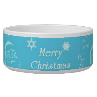 A Festive Jolly Father Christmas Pet Bowls