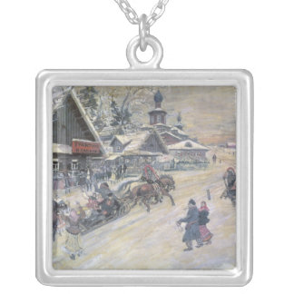 A Festive Walk, Russia Silver Plated Necklace