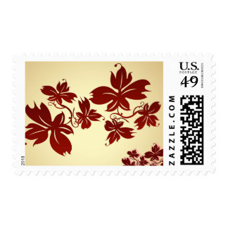 A Few Autumn Leaves Postage Stamp