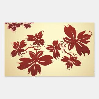 A Few Autumn Leaves Rectangular Sticker