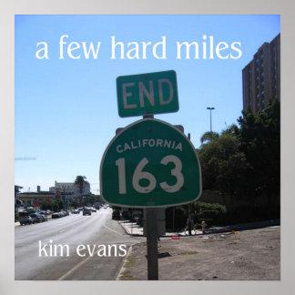"""a few hard miles,"" Kim Evans Album Cover Poster"