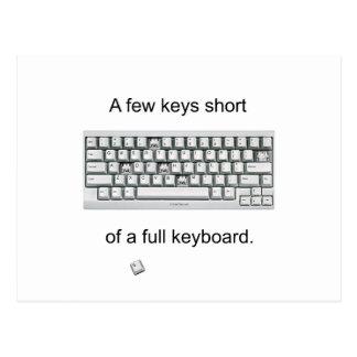 A Few Keys Short Postcards