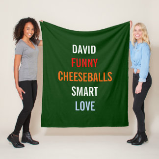 A Few Of My Favorite Things Holiday Hostess Gift Fleece Blanket