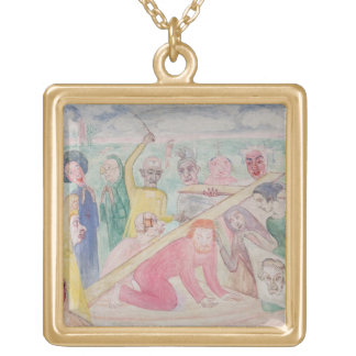 A Field Conventicle, 1857 Gold Plated Necklace