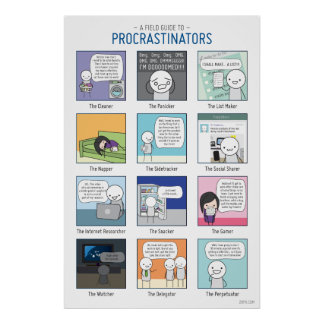 A Field Guide to Procrastinators Poster