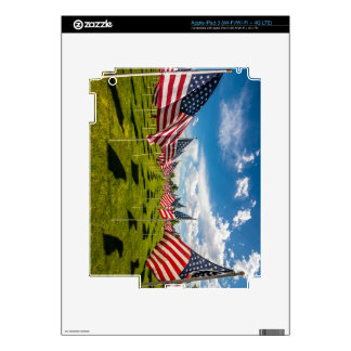 A field of American Flags on V-day Remembrance Skins For iPad 3