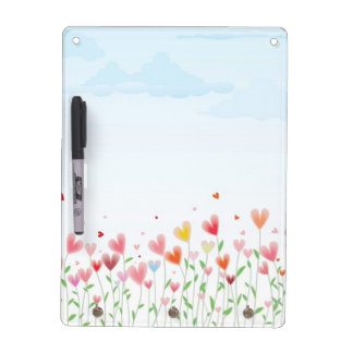 A Field of Hearts Dry Erase Board