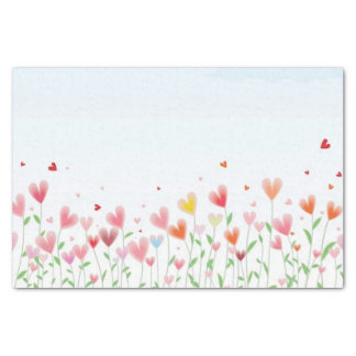 A Field of Hearts Tissue Paper