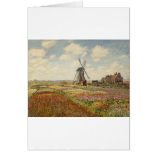 A Field of Tulips in Holland (1886) Greeting Card
