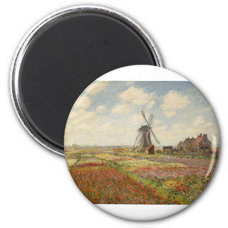 A Field of Tulips in Holland (1886) Magnet