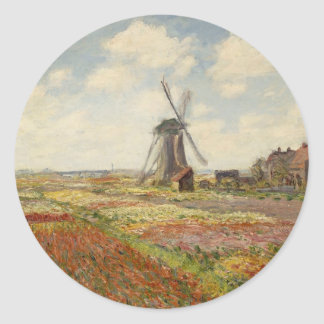A Field of Tulips in Holland (1886) Sticker