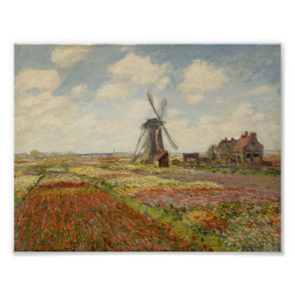 A Field of Tulips in Holland - Claude Monet Print