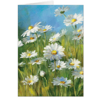 A Field of White Daisies Card