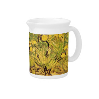 A Field of Yellow Flowers, Vincent van Gogh Drink Pitcher