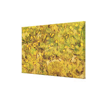 A Field of Yellower Flowers, Vincent Van Gogh Canvas Prints