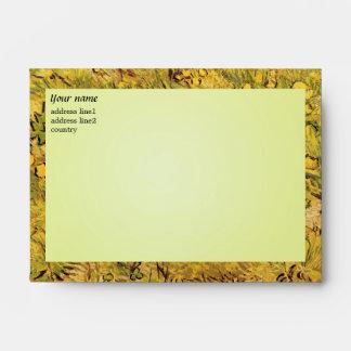 A Field of Yellower Flowers, Vincent Van Gogh Envelope