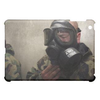 A field radio operator clears CS gas iPad Mini Case