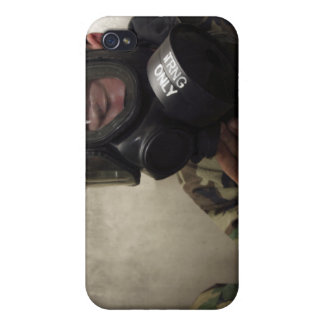 A field radio operator clears CS gas iPhone 4 Cover