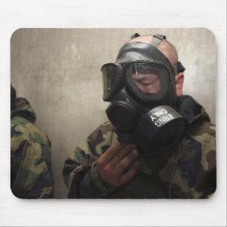 A field radio operator clears CS gas Mousepads
