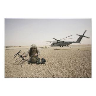 A field radio operator art photo