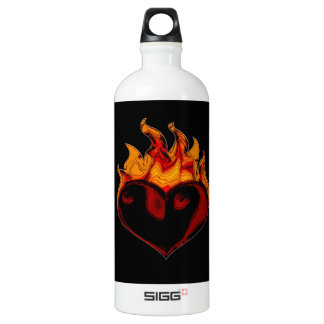 A Fiery Heart Wins Every Time Traveller (1.0L) Water Bottle
