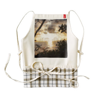 A fiery sunset zazzle HEART apron