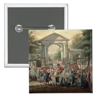 A Fiesta in a Botanical Garden, 1775 2 Inch Square Button