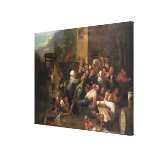 A Fight Outside a Tavern Canvas Print