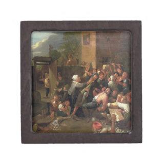 A Fight Outside a Tavern Jewelry Box