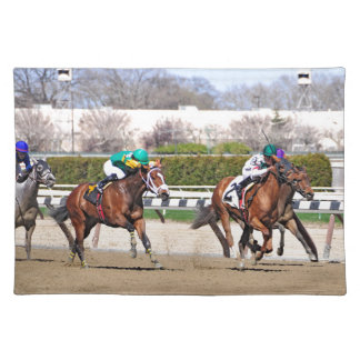 A Fight to the Finish Line Cloth Place Mat