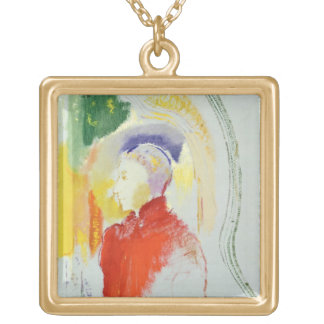A Figure (w/c on paper) Gold Plated Necklace