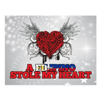 A Filipino Stole my Heart Postcard