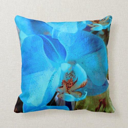 A Fine Blue Orchid Dream Throw Pillow