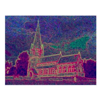 A FINE OLD CHURCH POSTCARD
