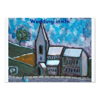 A fine old church wedding invite