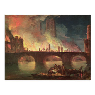 A Fire at the Hotel-Dieu in 1772 Postcard