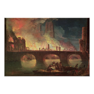 A Fire at the Hotel-Dieu in 1772 Posters