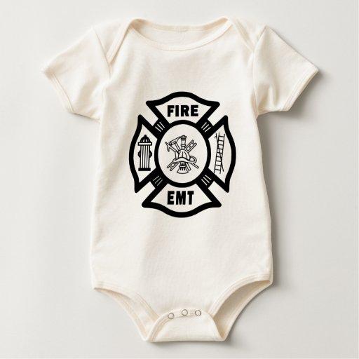 A Fire Dept EMT Baby Bodysuit