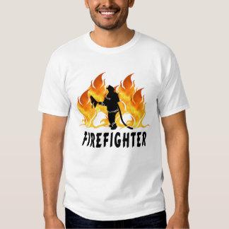 A Fire Fighter Flames T-Shirt