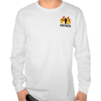 A Fire Fighter Flames T-shirts