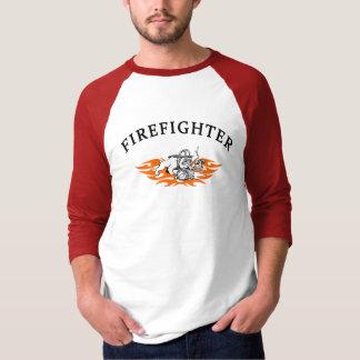 A Firefighter Bull Dog Tough T-Shirt