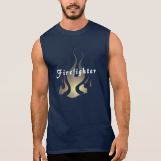 A Firefighter Decal Sleeveless T-shirt