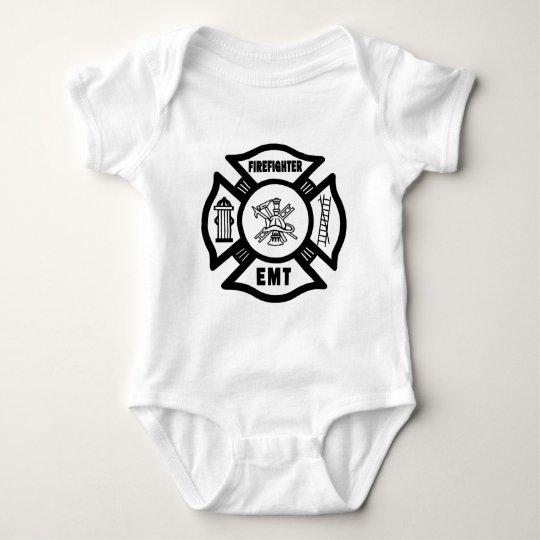A Firefighter EMT Baby Bodysuit